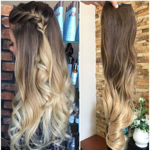 One Piece Wavy Ombre Clip in Hair Extensions